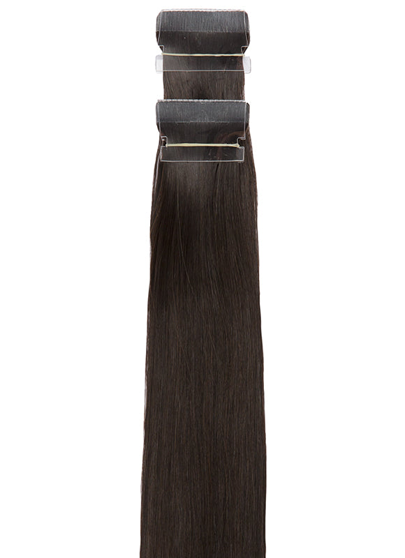 24 Inch Tape Hair Extensions #1B Natural Black