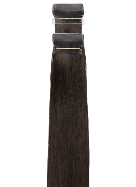 20 Inch Remy Tape Hair Extensions #1B Natural Black