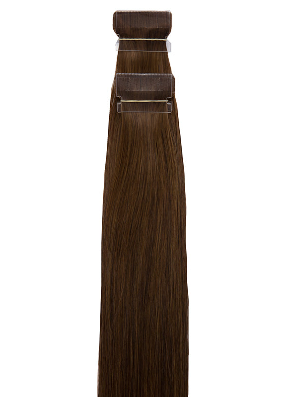 24 Inch Tape Hair Extensions #4 Medium Brown