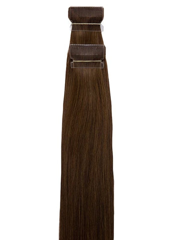 20 Inch Tape Hair Extensions #4 Medium Brown