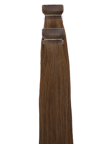 24 Inch Tape Hair Extensions #6 Light Chestnut Brown