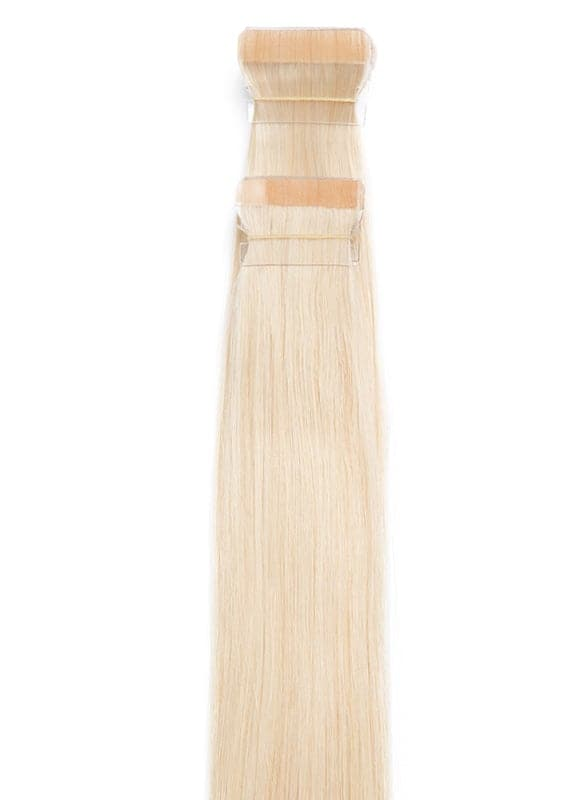 20 Inch Tape Hair Extensions #60 Light Blonde