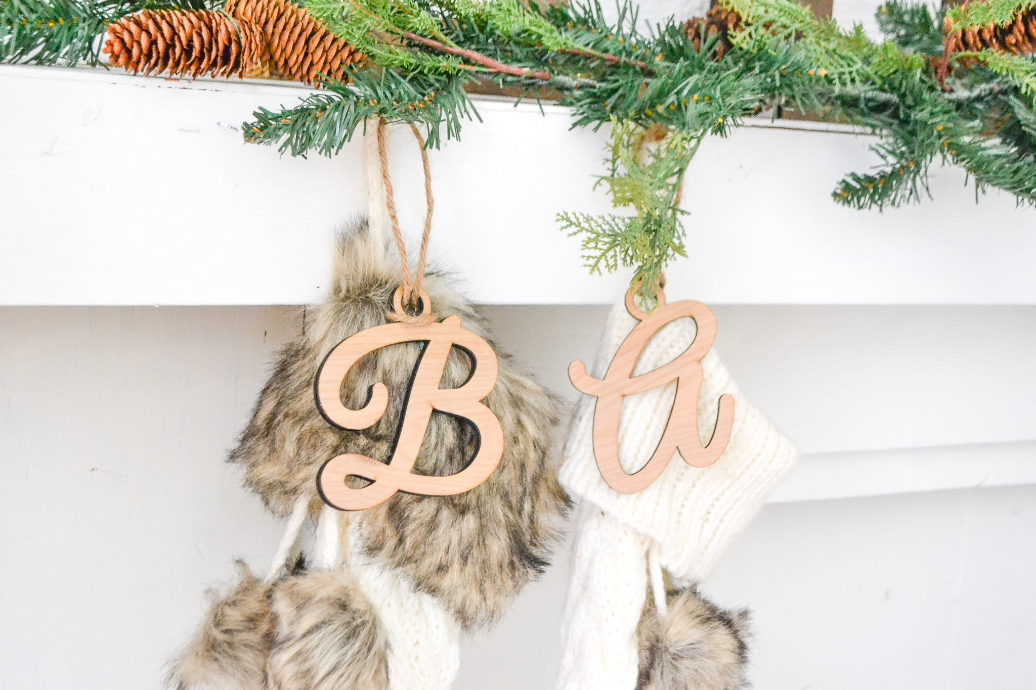Initial Personalized Stocking Tags
