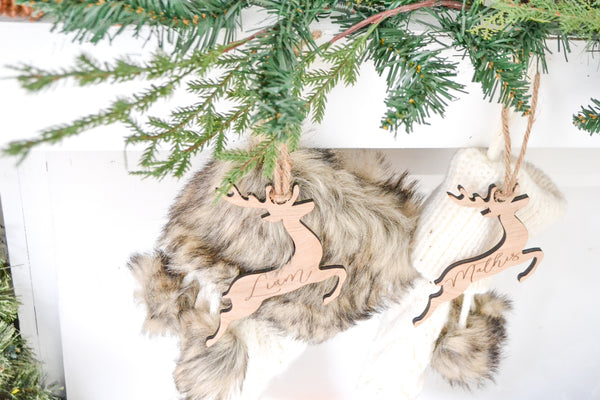 Reindeer Personalized Stocking Tags