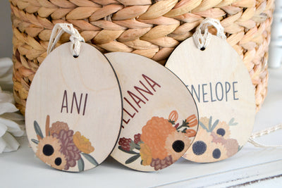 Sunflower Easter Basket Name Tags