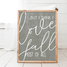Love Fall Chalkboard Wood Framed Sign