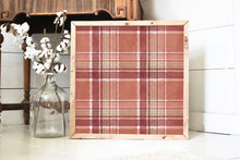 Autumn Plaid Accent Tile Wood Framed Sign