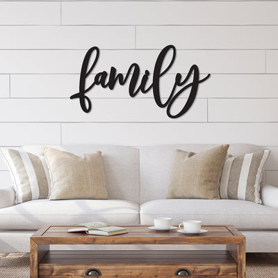 Family Word Wood Cutout