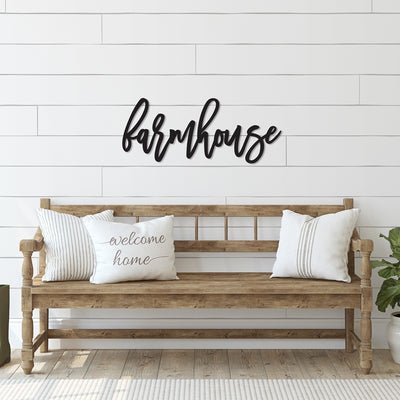 Farmhouse Word Wood Cutout
