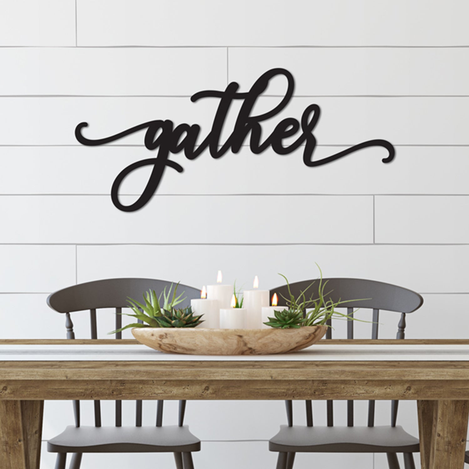 Gather Word Wood Cutout