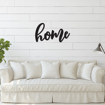 Home Word Wood Cutout
