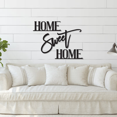 Home Sweet Home Phrase Wood Cutout