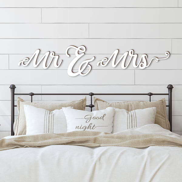 Mr & Mrs Word Wood Cutout