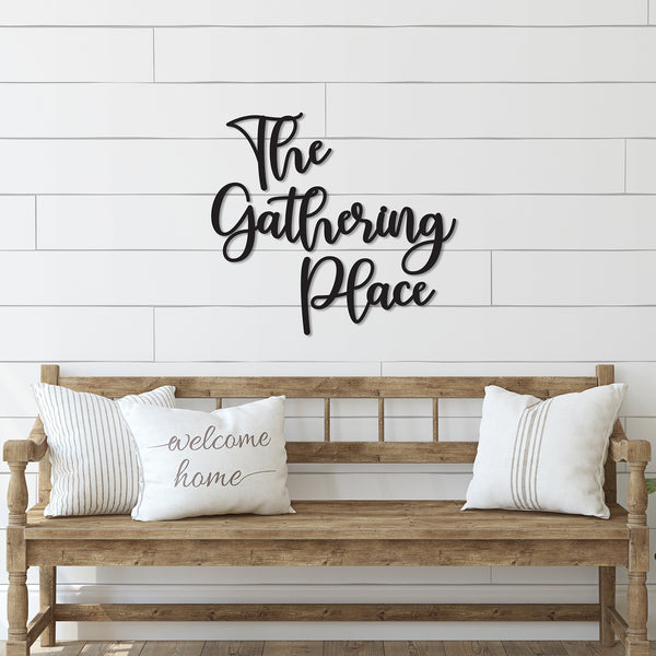 The Gathering Place Word Wood Cutout
