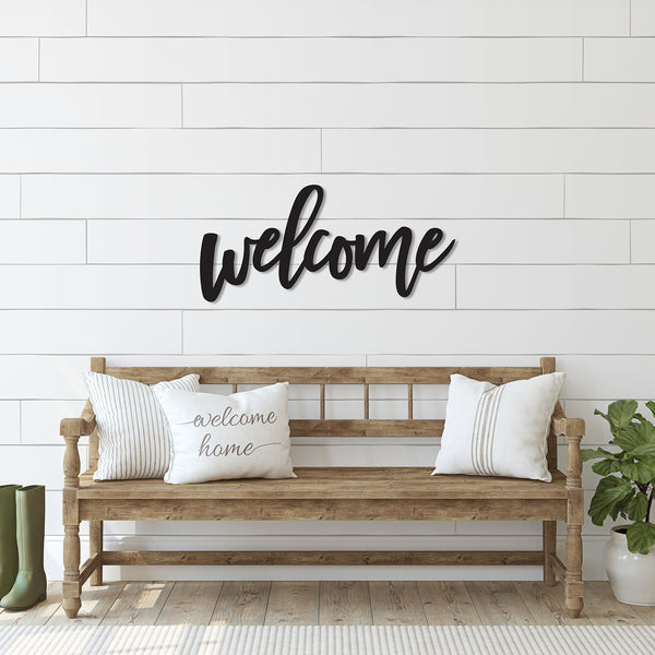 Welcome Word Wood Cutout