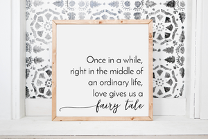 Wood Framed Sign Fairy Tale