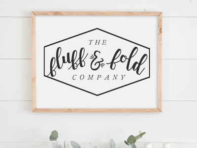 The Fluff & Fold Company Laundry Room Farmhouse Decor