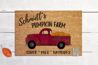 Personalized Fall Decor Door Mat