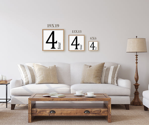 Wood Framed Sign Number