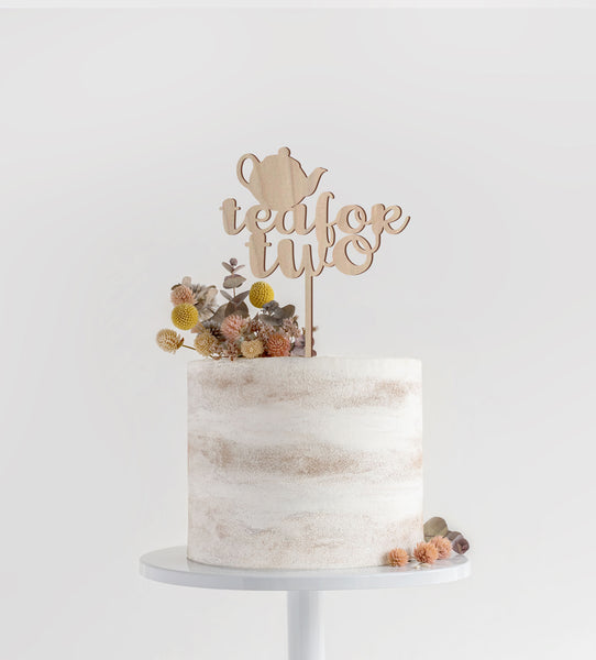 Tea For Two Toddler Cake Topper