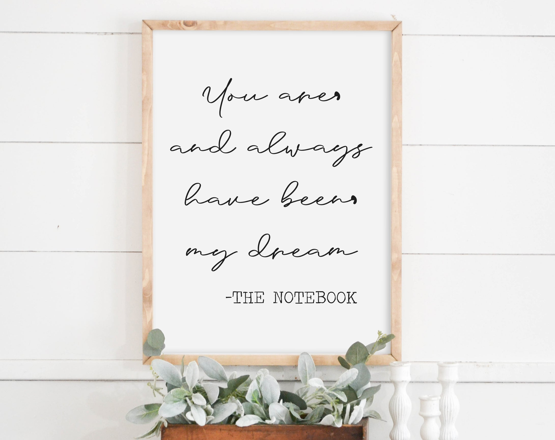 Love Quote Sign The Notebook Home Decor Farmhouse Sign