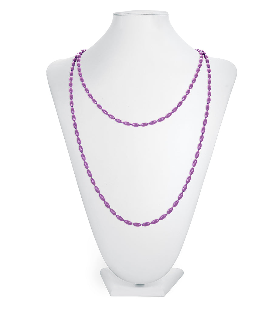 Charleston Rice Bead Necklace (Very Violet)