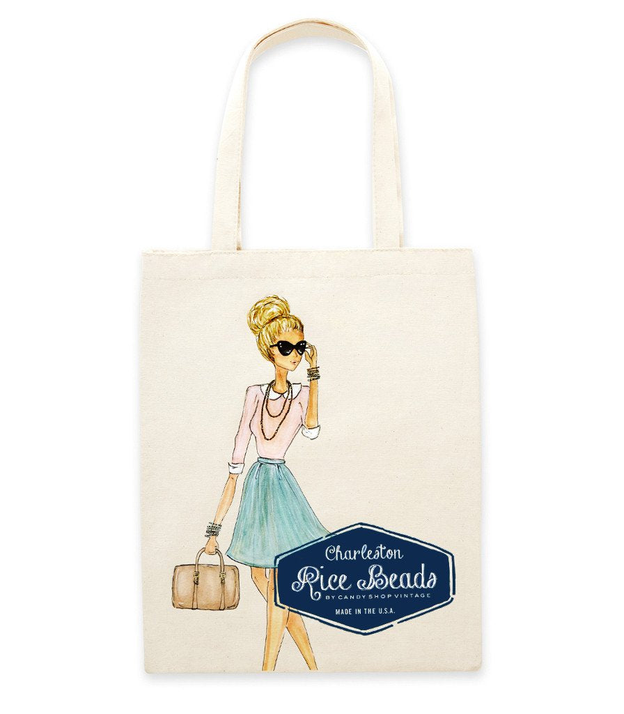 Charleston Rice Beads Tote Bag from Candy Shop Vintage