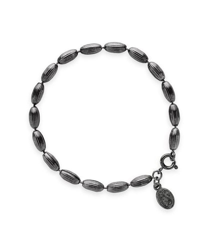 Charleston Rice Bead Bracelet (Gunmetal)