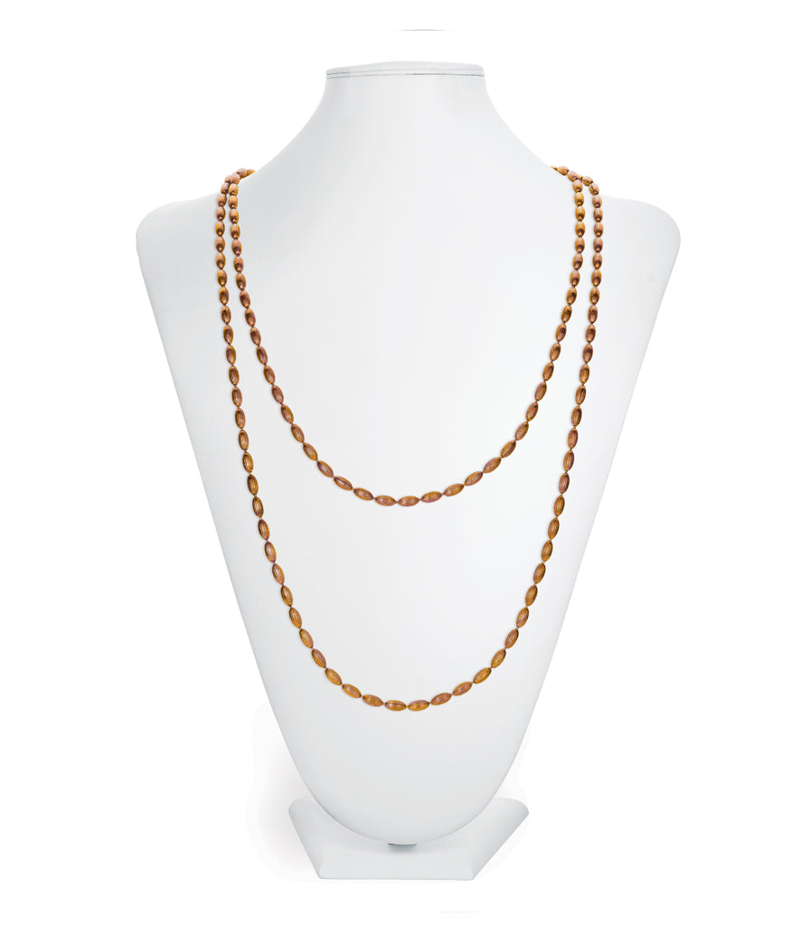 Charleston Rice Bead Necklace (Copper Shimmer)