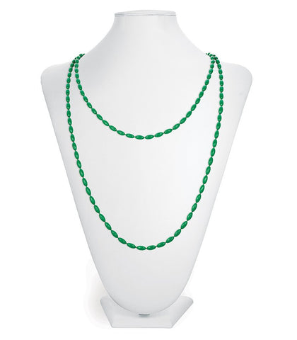 Charleston Rice Bead Necklace (Garden Green)