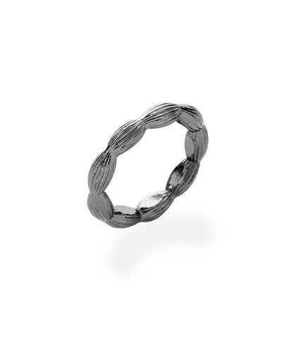 Charleston Rice Bead Ring (Gunmetal)