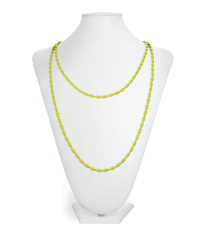 Charleston Rice Bead Necklace (Goblin Green)