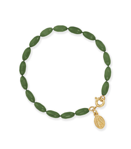 Charleston Rice Bead Bracelet (Olive)