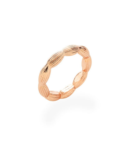 Charleston Rice Bead stackable Ring in rose gold