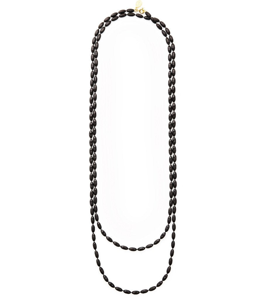 Charleston Rice Bead Necklace Midnight
