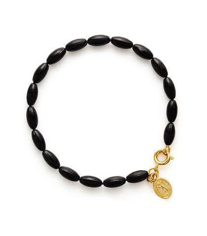 Charleston Rice Bead Bracelet (Midnight)