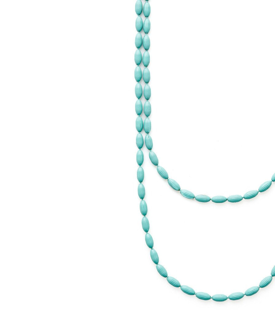 Charleston Rice Bead Necklace Robin's Egg