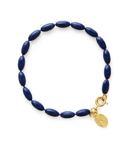 Charleston Rice Bead Bracelet True Navy