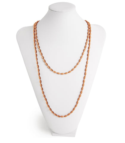 Charleston Rice Bead Necklace (Charleston Peach)