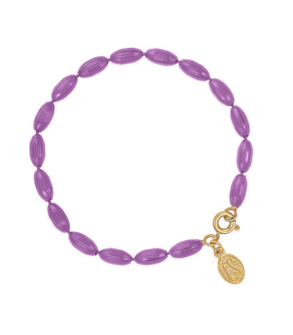 Charleston Rice Bead Bracelet (Very Violet)