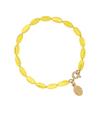 Charleston Rice Bead Bracelet (Sunshine Yellow)