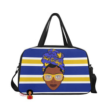 Load image into Gallery viewer, Black Girl Magic Sigma Gama Rho Inspired Gym/Overnight Bag