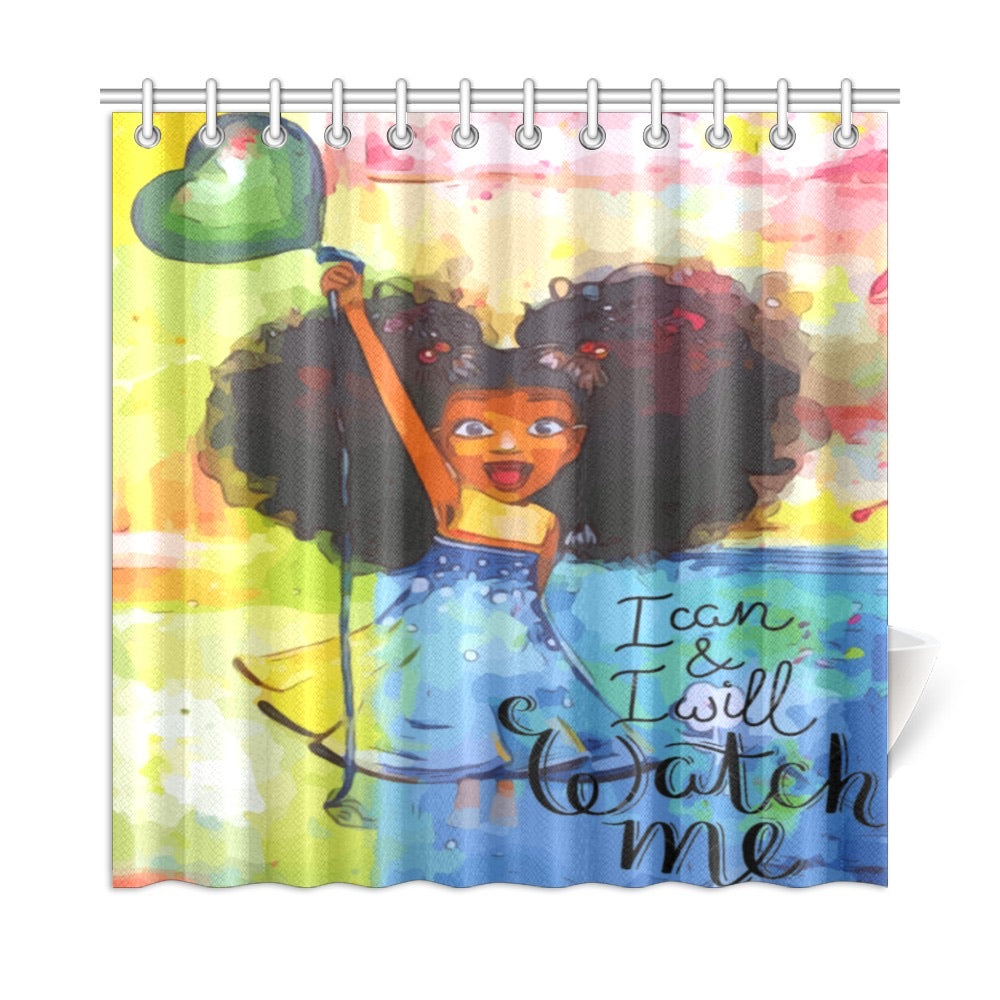 I Can & I Will .... Watch Me Shower Curtain