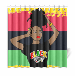Black Excellence Shower Curtain