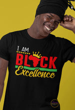 Load image into Gallery viewer, I Am Black Excellence T-shirt
