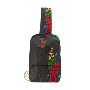 Sprinkling Black Girl Magic Chest Bag