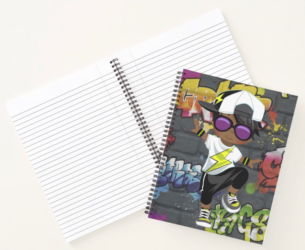 Hip Hop Boy Spiral Notebook 2