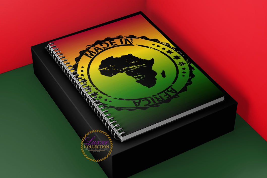 Made In Africa Spiral Notebook