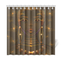 Load image into Gallery viewer, Green Goddess Shower Curtain
