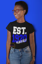 Load image into Gallery viewer, EST. 1920 #IAMHER Zeta Phi Beta T-shirt
